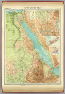 "Egypt and the Nile. (with) Alexandria. (with Aden Region). The Edinburgh Geographical Institute, John Bartholomew & Son, Ltd. ""The Times"" atlas. (London: The Times, 1922)"