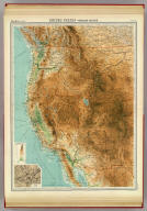 """United States - western section. (with) The Yosemite Valley. The Edinburgh Geographical Institute, John Bartholomew & Co. """"The Times"""" atlas. (London: The Times, 1922)"""