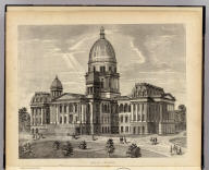 (State Capitol building, Springfield, Ill.) (Union Atlas Co., Warner & Beers, Proprietors. Lakeside Building Cor: of Clark & Adams Sts. Chicago. 1876. Entered ... 1876 by Warner & Beers ... Washington D.C.)