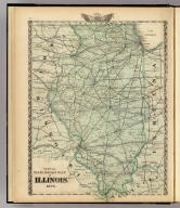 Official railroad map of Illinois. 1876. (Union Atlas Co., Warner & Beers, Proprietors. Lakeside Building Cor: of Clark & Adams Sts. Chicago. 1876. Entered ... 1876 by Warner & Beers ... Washington D.C.)