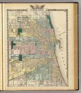 Map of Chicago City. (Union Atlas Co., Warner & Beers, Proprietors. Lakeside Building Cor: of Clark & Adams Sts. Chicago. 1876. Entered ... 1876 by Warner & Beers ... Washington D.C.)