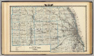 Counties of Kane, Du Page, and nearly all of Cook. (Union Atlas Co., Warner & Beers, Proprietors. Lakeside Building Cor: of Clark & Adams Sts. Chicago. 1876. Entered ... 1876 by Warner & Beers ... Washington D.C.)
