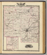 Map of Winnebago County. (with) Belvidere. (Union Atlas Co., Warner & Beers, Proprietors. Lakeside Building Cor: of Clark & Adams Sts. Chicago. 1876. Entered ... 1876 by Warner & Beers ... Washington D.C.)
