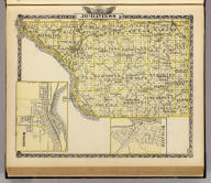 Map of Jo-Daviess County. (with) Moline. (with) Dunleith. (Union Atlas Co., Warner & Beers, Proprietors. Lakeside Building Cor: of Clark & Adams Sts. Chicago. 1876. Entered ... 1876 by Warner & Beers ... Washington D.C.)