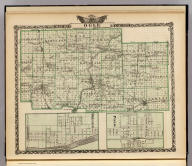 Map of Ogle County. (with) Polo. (with) Oregon. (Union Atlas Co., Warner & Beers, Proprietors. Lakeside Building Cor: of Clark & Adams Sts. Chicago. 1876. Entered ... 1876 by Warner & Beers ... Washington D.C.)