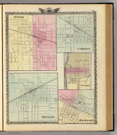 Geneseo. (with) Kewanee. (with) Cambridge. (with) Fulton. (with) Morrison. (Union Atlas Co., Warner & Beers, Proprietors. Lakeside Building Cor: of Clark & Adams Sts. Chicago. 1876. Entered ... 1876 by Warner & Beers ... Washington D.C.)