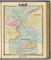 Rockford. (with) Sterling, Rock Falls. (Union Atlas Co., Warner & Beers, Proprietors. Lakeside Building Cor: of Clark & Adams Sts. Chicago. 1876. Entered ... 1876 by Warner & Beers ... Washington D.C.)