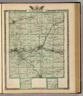 Map of La Salle County. (Union Atlas Co., Warner & Beers, Proprietors. Lakeside Building Cor: of Clark & Adams Sts. Chicago. 1876. Entered ... 1876 by Warner & Beers ... Washington D.C.)