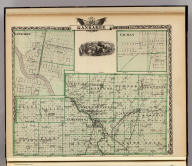 Map of Kankakee County. (with) Kankakee. (with) Gilman. (Union Atlas Co., Warner & Beers, Proprietors. Lakeside Building Cor: of Clark & Adams Sts. Chicago. 1876. Entered ... 1876 by Warner & Beers ... Washington D.C.)