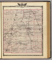 Map of Iroquois County. (Union Atlas Co., Warner & Beers, Proprietors. Lakeside Building Cor: of Clark & Adams Sts. Chicago. 1876. Entered ... 1876 by Warner & Beers ... Washington D.C.)