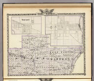Map of Stark and west part of Marshall counties. (with) Toulon. (with) Princeton. (Union Atlas Co., Warner & Beers, Proprietors. Lakeside Building Cor: of Clark & Adams Sts. Chicago. 1876. Entered ... 1876 by Warner & Beers ... Washington D.C.)