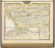 Map of Mercer County. (with) Rock Island. (with) Plano. (Union Atlas Co., Warner & Beers, Proprietors. Lakeside Building Cor: of Clark & Adams Sts. Chicago. 1876. Entered ... 1876 by Warner & Beers ... Washington D.C.)