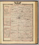 Map of Warren County. (with) Abingdon. (with) Yates City. (with) Chillicothe. (Union Atlas Co., Warner & Beers, Proprietors. Lakeside Building Cor: of Clark & Adams Sts. Chicago. 1876. Entered ... 1876 by Warner & Beers ... Washington D.C.)