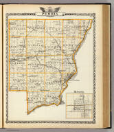 Map of Peoria County. (with) Minonk. (Union Atlas Co., Warner & Beers, Proprietors. Lakeside Building Cor: of Clark & Adams Sts. Chicago. 1876. Entered ... 1876 by Warner & Beers ... Washington D.C.)