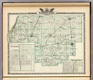 Map of Woodford County. (with) El Paso. (with) Metamora. (Union Atlas Co., Warner & Beers, Proprietors. Lakeside Building Cor: of Clark & Adams Sts. Chicago. 1876. Entered ... 1876 by Warner & Beers ... Washington D.C.)