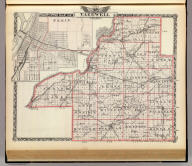 Map of Tazewell County. (with) Pekin. (Union Atlas Co., Warner & Beers, Proprietors. Lakeside Building Cor: of Clark & Adams Sts. Chicago. 1876. Entered ... 1876 by Warner & Beers ... Washington D.C.)