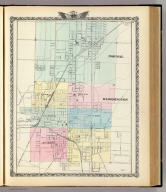 Normal, Bloomington. (Union Atlas Co., Warner & Beers, Proprietors. Lakeside Building Cor: of Clark & Adams Sts. Chicago. 1876. Entered ... 1876 by Warner & Beers ... Washington D.C.)