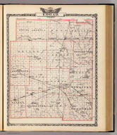 Map of Edgar County. (Union Atlas Co., Warner & Beers, Proprietors. Lakeside Building Cor: of Clark & Adams Sts. Chicago. 1876. Entered ... 1876 by Warner & Beers ... Washington D.C.)