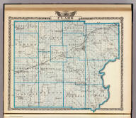 Map of Clark County. (Union Atlas Co., Warner & Beers, Proprietors. Lakeside Building Cor: of Clark & Adams Sts. Chicago. 1876. Entered ... 1876 by Warner & Beers ... Washington D.C.)