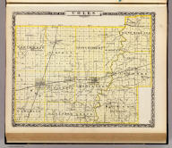 Map of Coles County. (Union Atlas Co., Warner & Beers, Proprietors. Lakeside Building Cor: of Clark & Adams Sts. Chicago. 1876. Entered ... 1876 by Warner & Beers ... Washington D.C.)