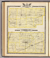Map of Douglas County. Map of Cumberland County. (Union Atlas Co., Warner & Beers, Proprietors. Lakeside Building Cor: of Clark & Adams Sts. Chicago. 1876. Entered ... 1876 by Warner & Beers ... Washington D.C.)