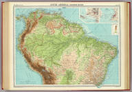 """South America - northern section. (with Lima-Callao Region). (with) Bahia or San Salvador. The Edinburgh Geographical Institute, John Bartholomew & Son, Ltd. """"The Times"""" atlas. (London: The Times, 1922)"""
