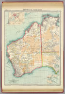 "Australia - western section. (with Perth Region). (with Albany Region). The Edinburgh Geographical Institute, John Bartholomew & Co. ""The Times"" atlas. (London: The Times, 1922)"