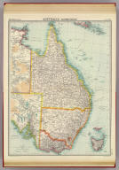 "Australia - eastern section. The Edinburgh Geographical Institute, John Bartholomew & Co. ""The Times"" atlas. (London: The Times, 1922)"