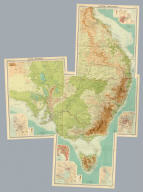"""(Composite of) Section maps of Australia on scale of 1:2,500,000. The Edinburgh Geographical Institute, John Bartholomew & Co. """"The Times"""" atlas. (London: The Times, 1922)"""