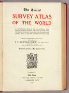 (Title Page to) Times survey atlas of the world. London: The Times, 1922.