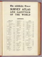 (Contents to) TheTimes survey atlas of the world. (London: The Times, 1922)