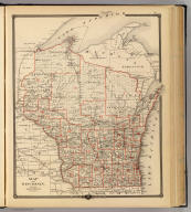 Map of Wisconsin showing senatorial districts. Copyright 1877 by Snyder, Van Vechten & Co. (Compiled and published by Snyder, Van Vechten & Co., Milwaukee. 1878)