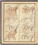 United States Census maps, 1870. Density of population. Foreign population. Colored population. German population. Swedish & Norwegian population. Copyright 1877, by Syder Van Vechten & Co. (Compiled and published by Snyder, Van Vechten & Co., Milwaukee. 1878)