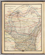 Climatological map of Wisconsin. Compiled by Prof. H.H. (sic) Oldenhage. Published by Snyder, Van Vechten & Co., Milwaukee. Copyright 1877, by Snyder, Van Vechten & Co.
