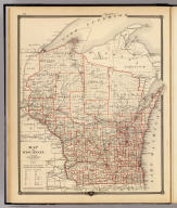 Map of Wisconsin, showing assembly districts. Copyright 1877, by Snyder, Van Vechten & Co. (Published by Snyder, Van Vechten & Co., Milwaukee. 1878)