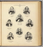 (Portraits) Governors of Wisconsin: N.P. Talmadge, 1844-1845, James Duane Doty, 1841-1844, Nelson Dewey, 1848-1852, Henry Dodge, 1836-1841, 1845-1848, L.J. Farwell, 1852-1854, Coles Bashford, 1856-1858, Alex. W. Randall, 1858-1862, William A. Barstow, 1854-1856. (Compiled and published by Snyder, Van Vechten & Co., Milwaukee. 1878)