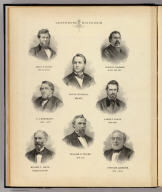 (Portraits) Governors of Wisconsin: Louis P. Harvey, 1862 ..., Edward Salomon, ... 1862-1864, Lucius Fairchild, 1866-1872, C.C. Washburn, 1872-1874, James T. Lewis, 1864-1866, William R. Taylor, 1874-1876, William E. Smith, ... 1878, Harrison Ludington, 1876-1878. (Compiled and published by Snyder, Van Vechten & Co., Milwaukee. 1878)