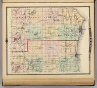 Map of Racine and Kenosha counties, State of Wisconsin.