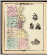 Map of Milwaukee County, State of Wisconsin. (with portraits:) Solomon Juneau, Byron Kilbourn, George H. Walker. (with view) Court House. Copyright 1877, by Snyder, Van Vechten & Co. (Compiled and published by Snyder, Van Vechten & Co., Milwaukee. 1878)