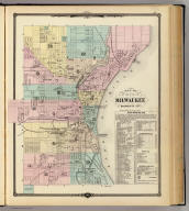Map of the City of Milwaukee, Milwaukee Co. Copyright 1877, by Snyder, Van Vechten & Co. (Compiled and published by Snyder, Van Vechten & Co., Milwaukee. 1878)