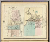 Plan of Jefferson, county seat of Jefferson Co. (with) Kenosha, county seat of Kenosha Co. Copyright 1877, by Snyder, Van Vechten & Co. (Compiled and published by Snyder, Van Vechten & Co., Milwaukee. 1878)