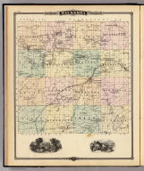 Map of Waukesha County, State of Wisconsin. Copyright 1877, by Snyder, Van Vechten & Co. (Compiled and published by Snyder, Van Vechten & Co., Milwaukee. 1878)
