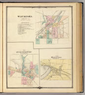 Waukesha, county seat of Waukesha Co. (with) Map of Oconomowoc, Waukesha Co. (with) Pewaukee, Waukesha Co. Copyright 1877, by Snyder, Van Vechten & Co. (Compiled and published by Snyder, Van Vechten & Co., Milwaukee. 1878)