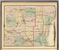 Map of Washington and Ozaukee counties, State of Wisconsin.