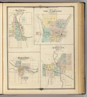 West Bend, county seat of Washington Co. (with) Plan of Port Washington, county seat of Ozaukee Co. (with) Hartford, Washington Co. (with) Plan of Horicon, Dodge Co. Copyright 1877, by Snyder, Van Vechten & Co. (Compiled and published by Snyder, Van Vechten & Co., Milwaukee. 1878)
