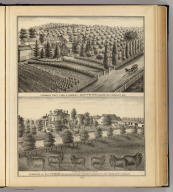 Pewaukee Fruit Farm & Nursery, Geo. P. Peffer, proprietor, Pewaukee, Wis. (with) Crystal Springs Farm, residence of A.E. Perkins ... Mukwonago Township, Waukesha Co., Wis. (Compiled and published by Snyder, Van Vechten & Co., Milwaukee. 1878)