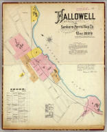 Hallowell, Kennebec Co., Maine (sheet 1, index). Sanborn-Perris Map Co. Limited. 117 Broadway, New York. Scale 50 ft. to an inch. Dec. 1889. Copyright, 1890, by the Sanborn-Perris Map Co. Limited.