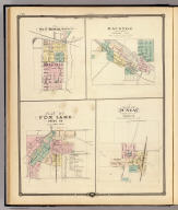 Map of Tomah, Monroe Co. (with) Mauston, county seat of Juneau Co. (with) Plan of Fox Lake, Dodge Co. (with) Plan of Juneau, county seat of Dodge Co. Copyright 1877, by Snyder, Van Vechten & Co. (Compiled and published by Snyder, Van Vechten & Co., Milwaukee. 1878)