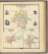 Fort Atkinson, Jefferson Co. (with) Plan of Waterloo, Jefferson Co. (with) Play of Palmyra, Jefferson Co. Copyright 1877, by Snyder, Van Vechten & Co. (Compiled and published by Snyder, Van Vechten & Co., Milwaukee. 1878)