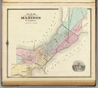 Map of Madison, Wisconsin. Copyright 1877, by Snyder, Van Vechten & Co. (Compiled and published by Snyder, Van Vechten & Co., Milwaukee. 1878)